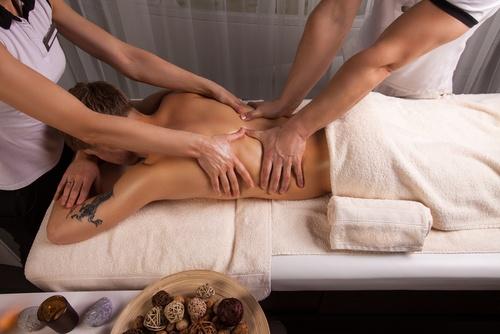 masaje 4 manos salou